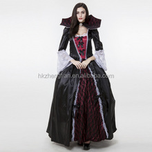 Ecoparty Halloween Noble Queen Vampire Costume Sexy Gothic Halloween Carnival Party Fancy Dress Female Devil Cosplay Costume