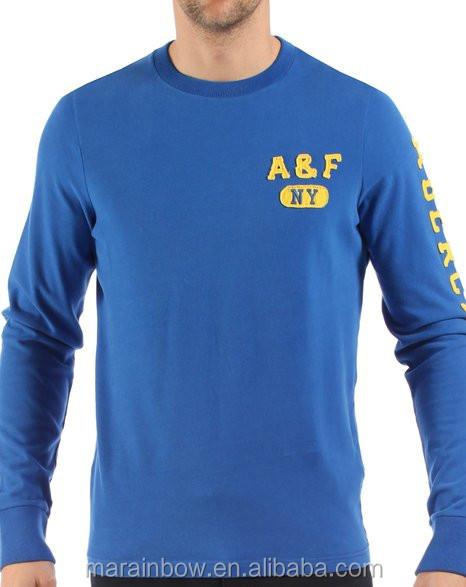 Cheap wholesale mens royal blue long sleeve t shirt 100 for Cheap workout shirts mens