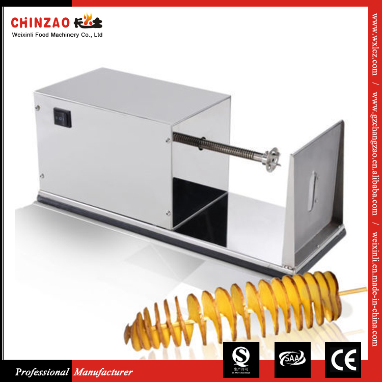 Low Price Industrial Stainless Steel Electric Potato Spiral Cutter for Sale