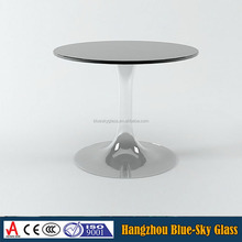 Factory wholesale table glass sheet price , tempered glass top center table design