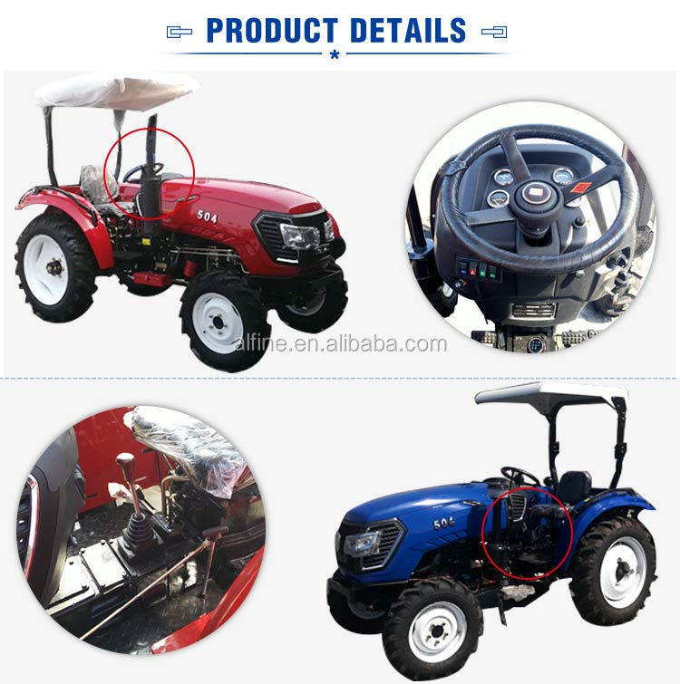 Factory directly sale best quality  50hp tractor with 4 wheel drive