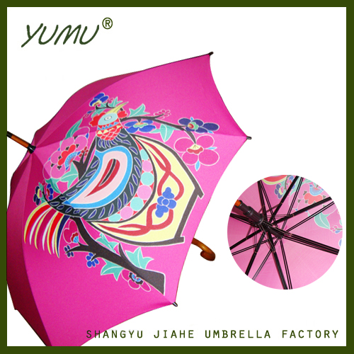 Custom Made Straight Umbrella with Full Color Printing