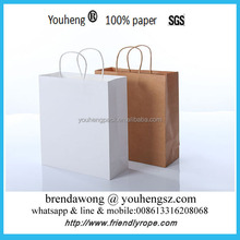 2016 promotional customized recycle brown kraft paper bag for cloth