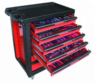 220pcs Professional Tool Cabinet With Craftman Tools in Trolley With Tools