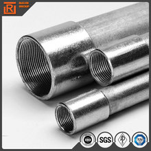 Galvanized EMT and IMC steel pipe used for wire conduit in the indoor ceiling or outdoor project
