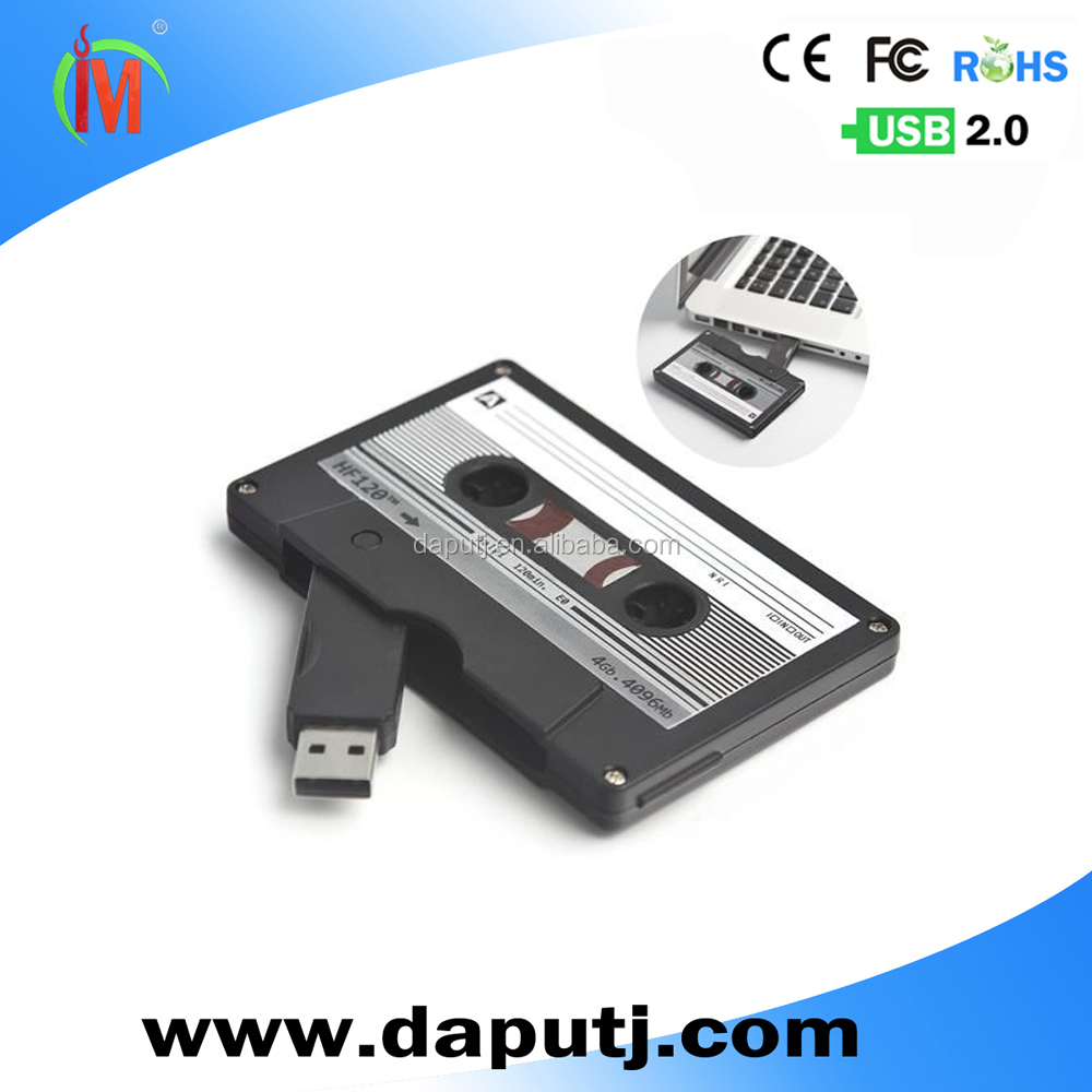Promotional Cassette Tape Shaped Usb 2.0