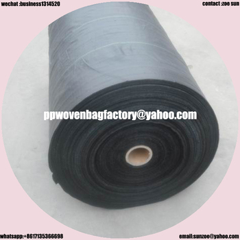 kinds of pp woven fabric as silt fence with sidement