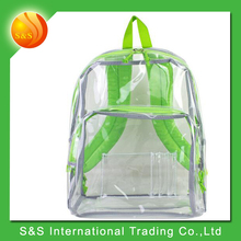 Clear fashion duable large capacity PVC waterproof backpack
