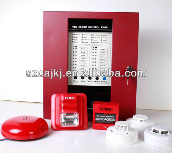 hot china products 16 zones fire control panel alarm system with remote control addressable fire alarm system