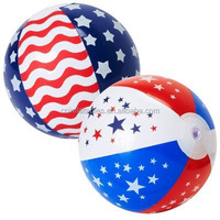 2014 hot selling PVC or TPU inflatable beach ball with flags