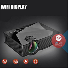 Unic UC46 Mini Projector 1200 Lumens Full HD 1080P Support DLNA Miracast Home Cinema Theater Multimedia Projector