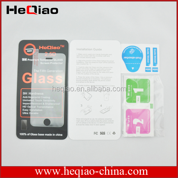 sefl-adhensive tempered glass screen protector for sumsung mobile iphone4/4s iphone5/5s iphone6/6+ ipadmini