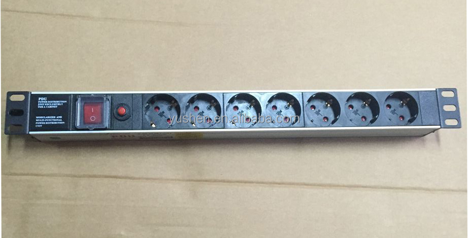 19'' IP20 1/2/3/5/6/7/8/10/15 Outlets Power Surge Protector Rack PDU US/UK/Australia/EU plug Power Socket