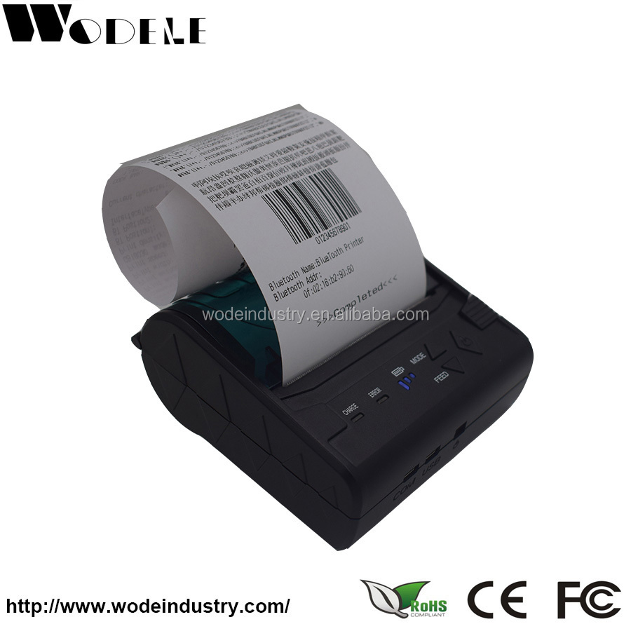 WD-80GN: China cheap bluetooth micro ticket invoice small thermal receipt termal printer pos58 for mobile smartphone