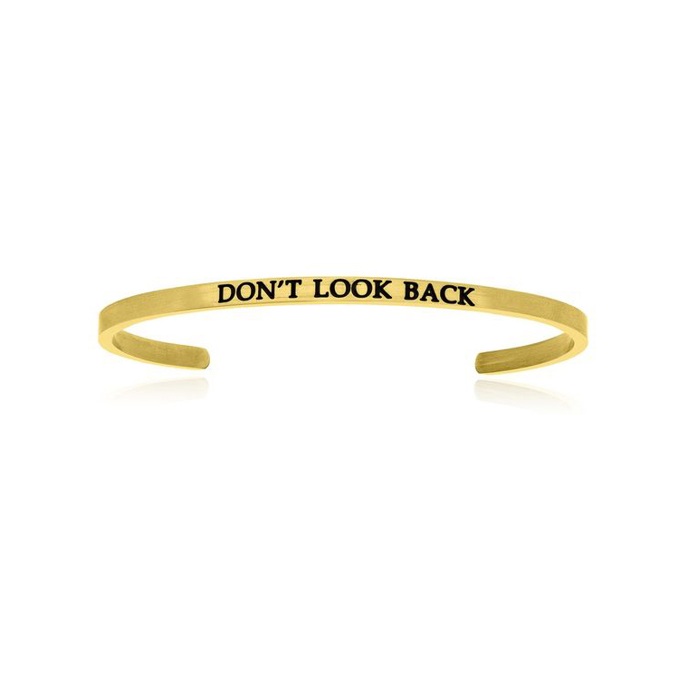 Don't Look Back Cheap Price Stainless Steel Cuff Bracelet Gold Jewellery