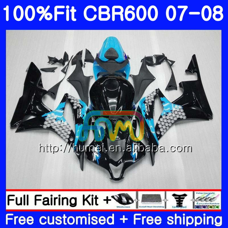 Injection For HONDA CBR 600 RR 07-08 CBR600RR F5 07 08 Graffiti blue 10HM3 CBR 600RR F5 CBR600F5 CBR600 RR 2007 2008 Fairing