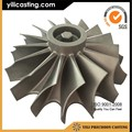 high temperature alloy turbine wheel investment casting for vessel diesel turbo