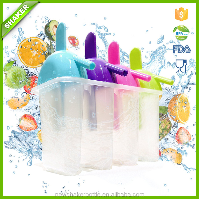 Pop Molds for Frozen Fruit Popsicles and Smoothies. BPA-Free Plastic With Drip Free Handle and Slurper Straw