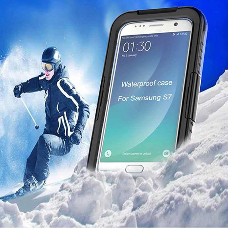 Water resistent shockproof touch screen ip68 waterproof case