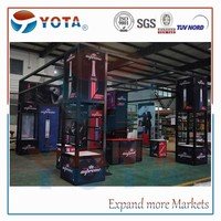 6x6 modular,portable exhibition display stands ,island configuration from Shanghai