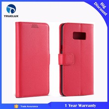 Superior Quality Cell Phone Cover for Samsung S8 Plus, Lychee Leather Case for Galaxy S8 Plus