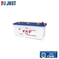 12V N135 135AH dry charged used automotive car batteries for sale