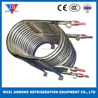 Refrigeration part heat exchanger, coaxial type heat exchanger for seawater