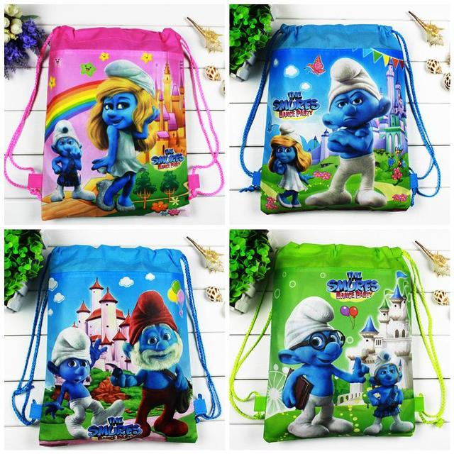4pcs/lot Masha Bear Cartoon Drawstring Children school bags,Kids Birthday Party Favor,Mochila escolar,School Kids backpack