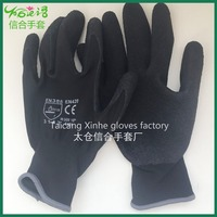 High quality outdoor Latex coated polyester activity glove/EN 388 EN 420