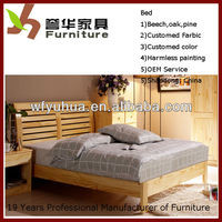 durable environmental wood double bed