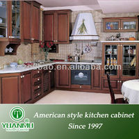 buy wood panel door design oak kitchen corner cabinet