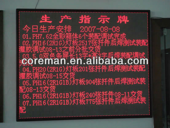 dot matrix red ph4 p4 indoor single color led display,led display screen,led display panel