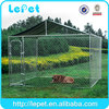 10'x10'x6' large chain link rolling outdoor temporary dog enclosure