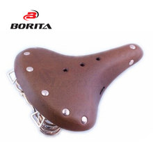 The cheapest best quality bicycle leather saddle cow leather bike saddle seats in alibaba