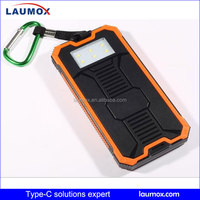 Factory price of solar charger power bank 20000mAh mobile charger with lighting