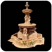 Marble Outdoor Fountain with Statues VLF-N008