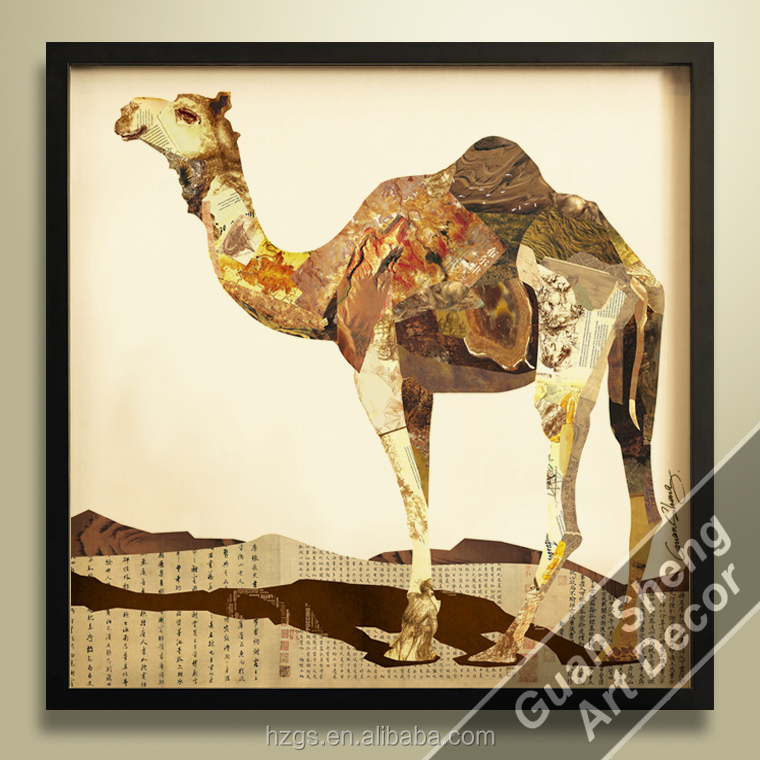 wholesale GuanSheng CG002 animal handmade 3d wall painting