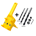 LISCA 6/8/10mm ABS colorful Doweling Hole Jig Dowel hole Guide with 6/8/10 drills