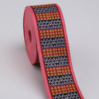 fashionable national style printing cotton webbing with jacquard ethinic style liman ribbon factory new design
