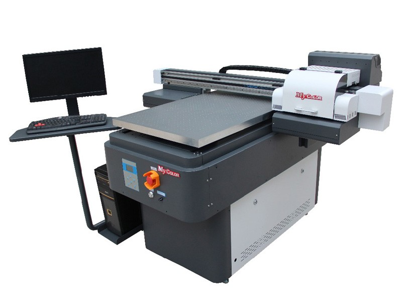 UV automatic digital led 2 heads inkjet flatbed 6090 printer a3 price in China