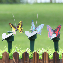 Plastic Simulation Feather Bird Solar Energy Lawn Garden Decoration