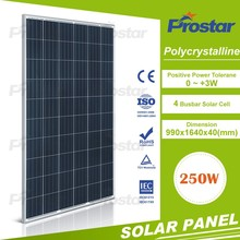 Best value 250w 24volt polycrystalline solar panel with silver frame for home
