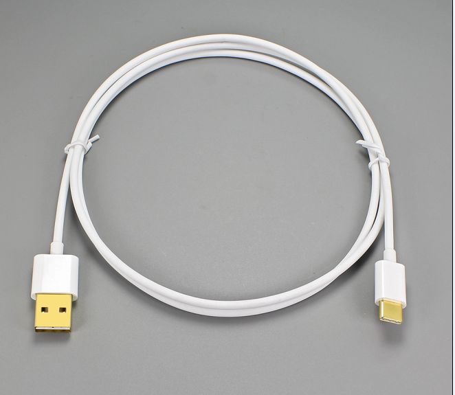 Newest USB standard USB2.0 to USB 3.1 charger cable with gold plated head