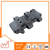 High effeciency john deere 590d excavator parts track pad customized for brand OEM R41232F1 track shoe