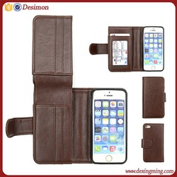 Retro Flip ID Card Wallet Leather Case Cover for IPhone 5 5G 5S