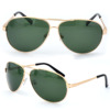 Green lens gold frame