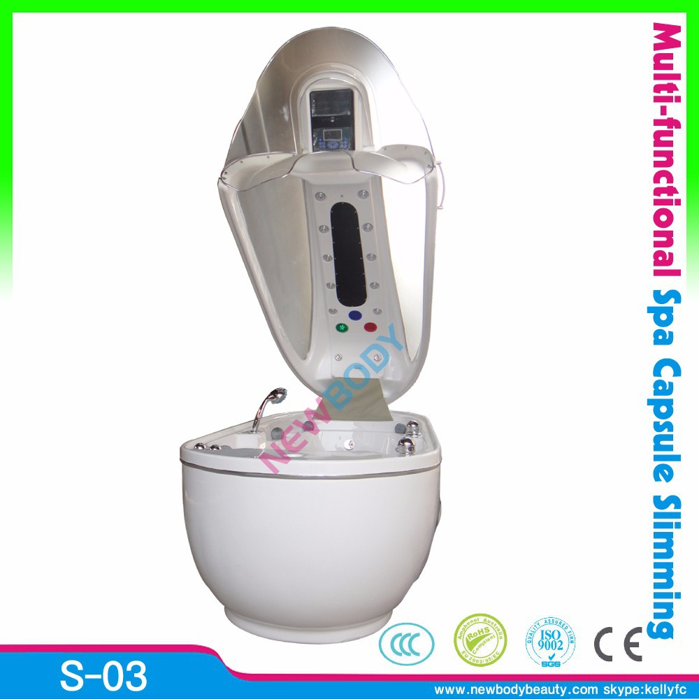 2015 top sale infrared spa causule/ steam sauna/ ozone dry steam sauna bed