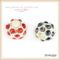 Lovely big hole round beads, fashion, blue and red rhinestone rhinestones two styles ,decorative beads curtains ZX-A23332