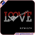 Special Designs Rhinestone love peace Heat Transfers for T Shirts