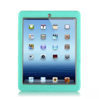 For Apple iPad 2 iPad 3 iPad 4 Amor Shockproof Heavy Duty Rubber Hard Case Cover w/Screen Protector Film+Stylus Pen
